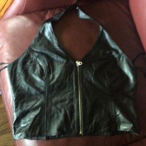 Wilson's leather zip up tank vest